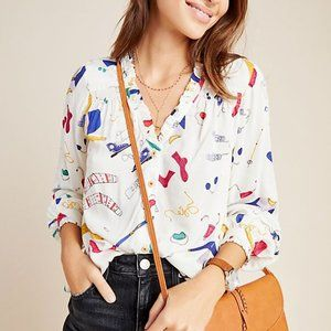 Maeve by Anthropologie Marisol Ruffled Blouse
